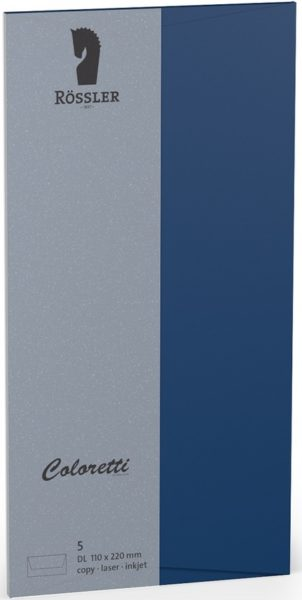 Coloretti-5er Pack Briefumschläge DL 80g/m², jeans