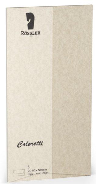 Coloretti-5er Pack Briefumschläge DL 80g/m², sahara braun