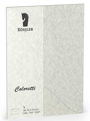 Coloretti-5er Pack Briefumschläge B6 80g/m², wolkengrau