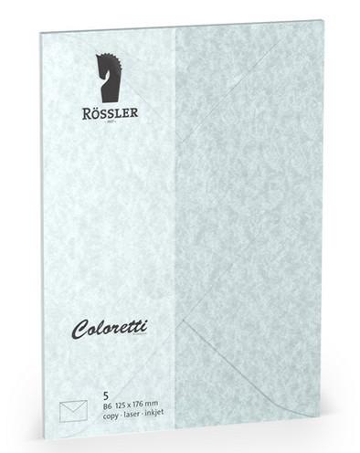 Coloretti-5er Pack Briefumschläge B6 80g/m², aquablau
