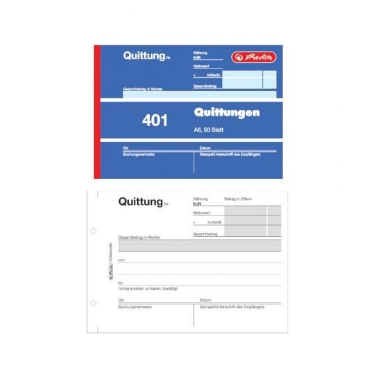 """herlitz """"Quittung 401″"""", DIN A6, 50 Blatt"""""""