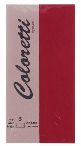 Coloretti-5er Pack Briefumschläge DL 80g/m², rosso