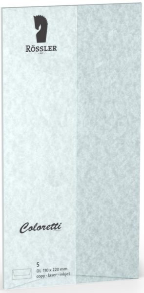 Coloretti-5er Pack Briefumschläge DL 80g/m², aquablau