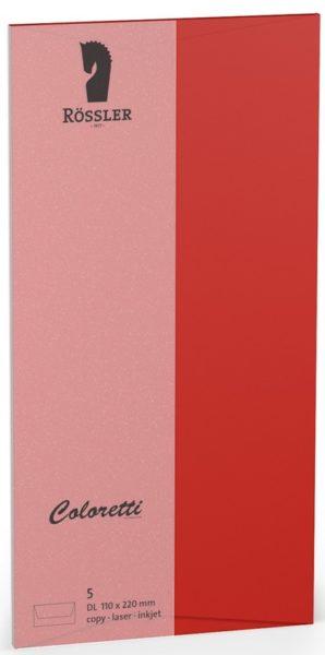 Coloretti-5er Pack Briefumschläge DL 80g/m², klatschmohn