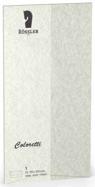 Coloretti-5er Pack Briefumschläge DL 80g/m², wolkengrau